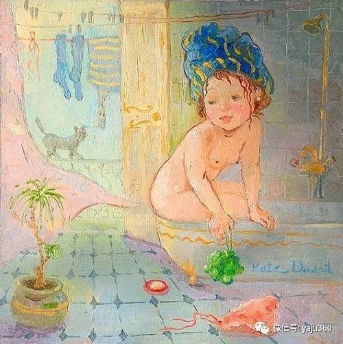 童趣 乌克兰Kate Dudnik绘画欣赏插图2