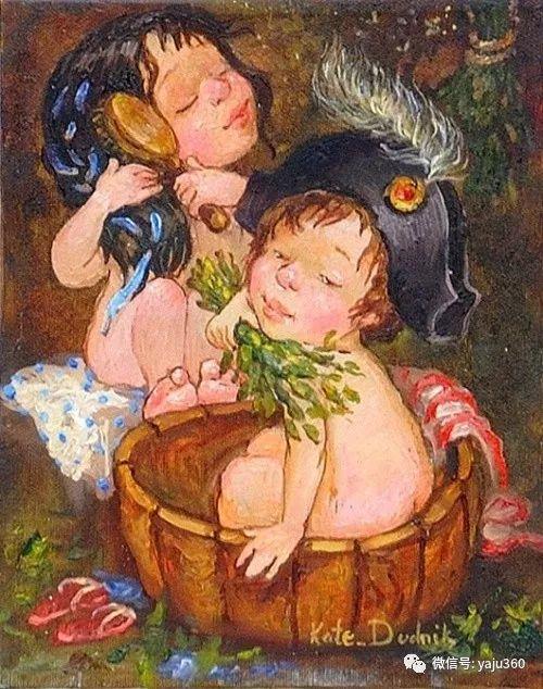 童趣 乌克兰Kate Dudnik绘画欣赏插图10