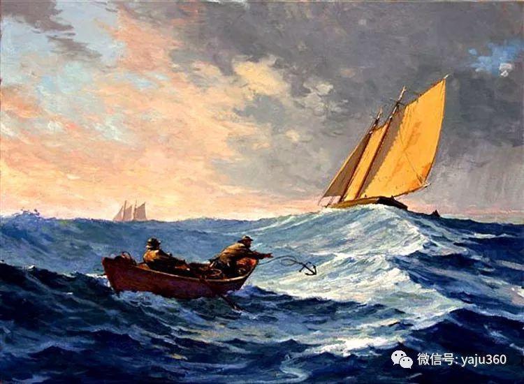 美国Jeff Weaver船舶油画作品插图1