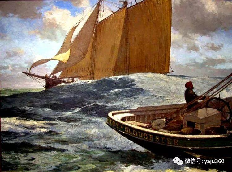 美国Jeff Weaver船舶油画作品插图3