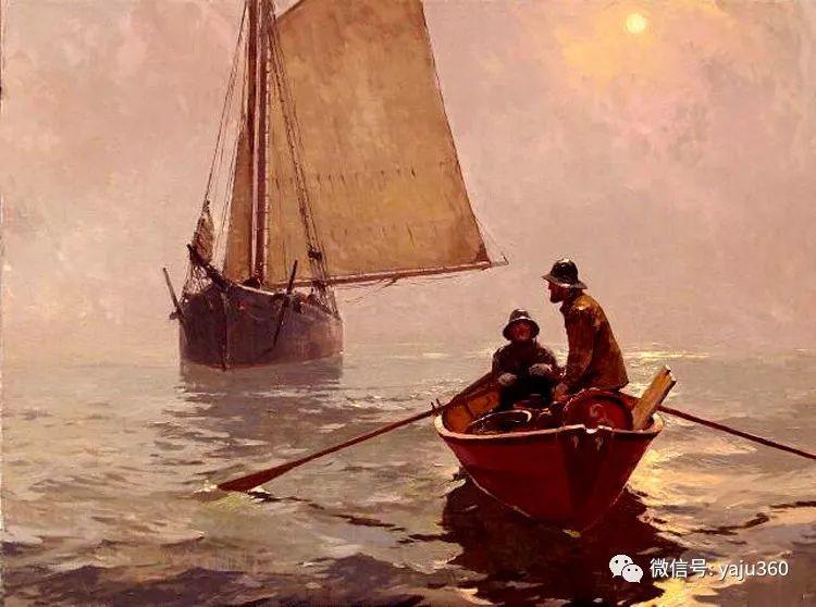 美国Jeff Weaver船舶油画作品插图9
