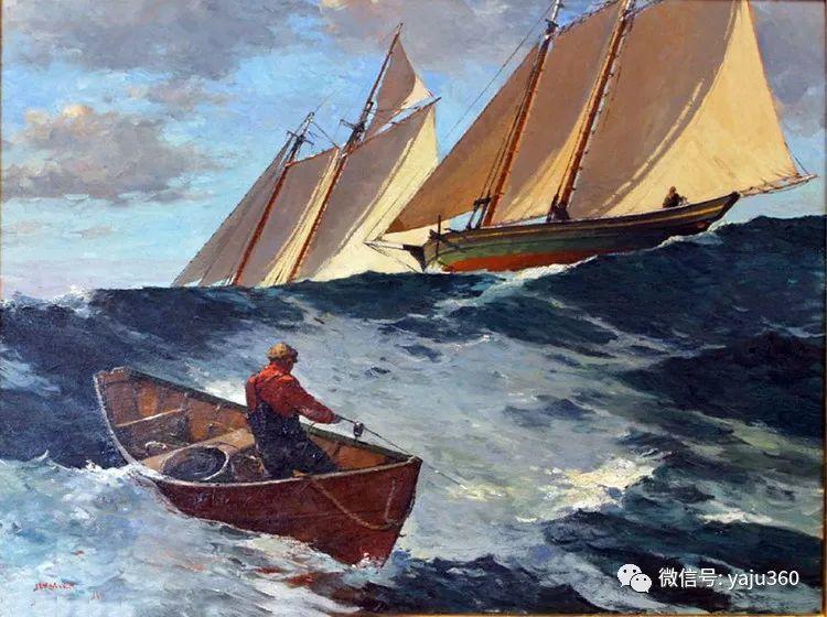 美国Jeff Weaver船舶油画作品插图13