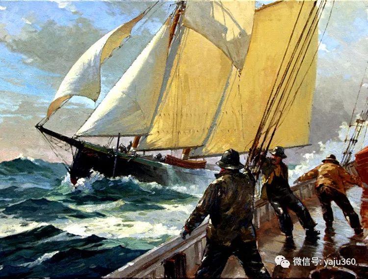 美国Jeff Weaver船舶油画作品插图21