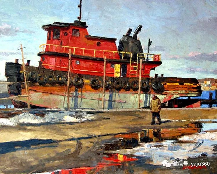 美国Jeff Weaver船舶油画作品插图25