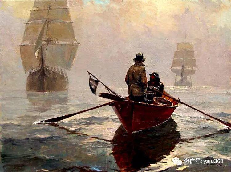 美国Jeff Weaver船舶油画作品插图31