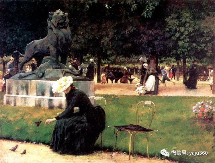 美国Charles Courtnes Curran油画欣赏插图3