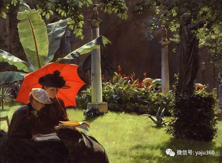 美国Charles Courtnes Curran油画欣赏插图5