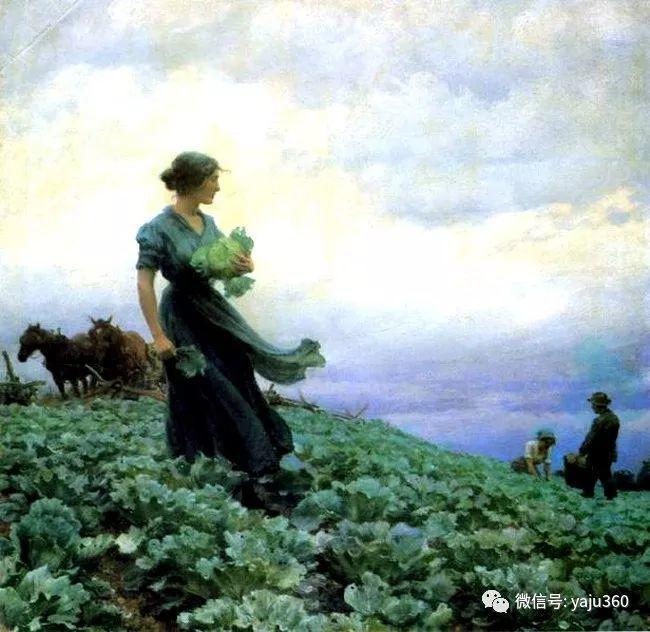 美国Charles Courtnes Curran油画欣赏插图11