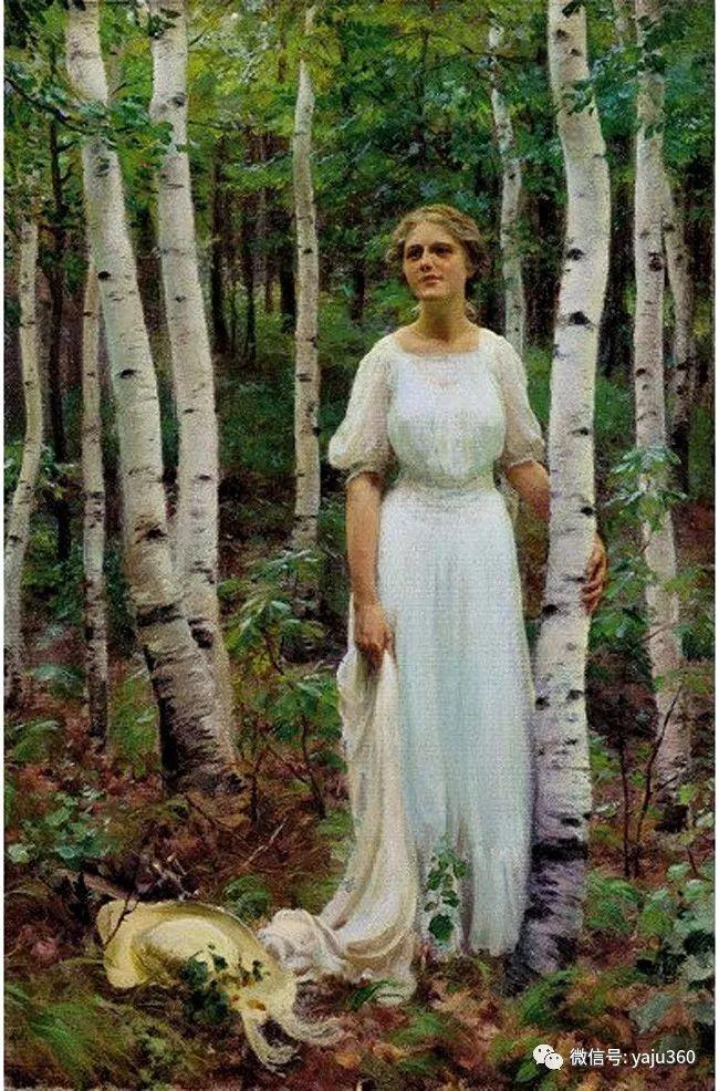 美国Charles Courtnes Curran油画欣赏插图13