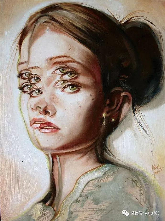 多彩重叠的肖像 Alex Garant插图3