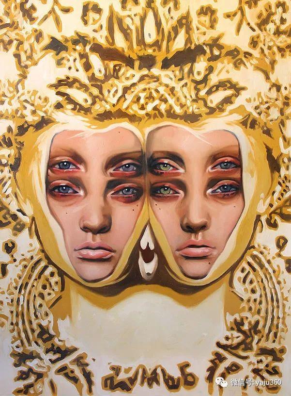 多彩重叠的肖像 Alex Garant插图25