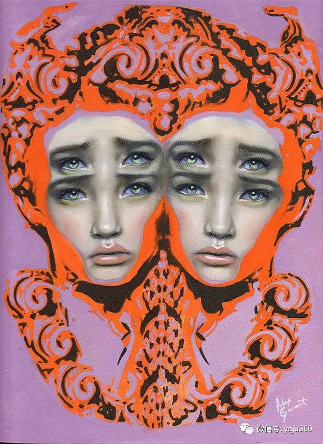 多彩重叠的肖像 Alex Garant插图43