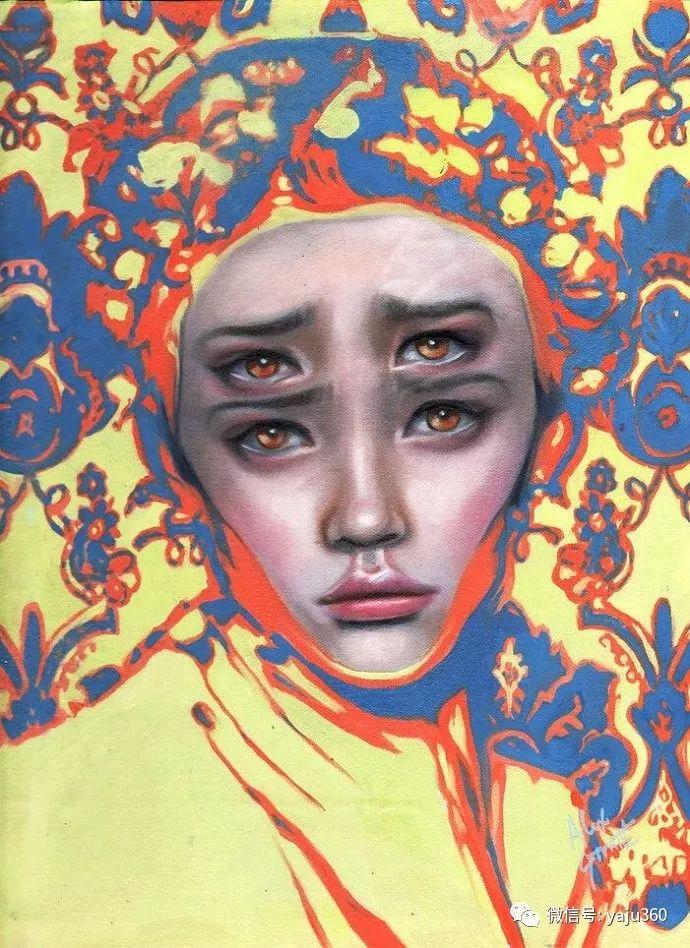 多彩重叠的肖像 Alex Garant插图45