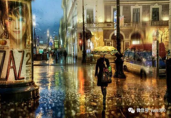 雨中街景2 俄罗斯Eduard Gordeev插图9