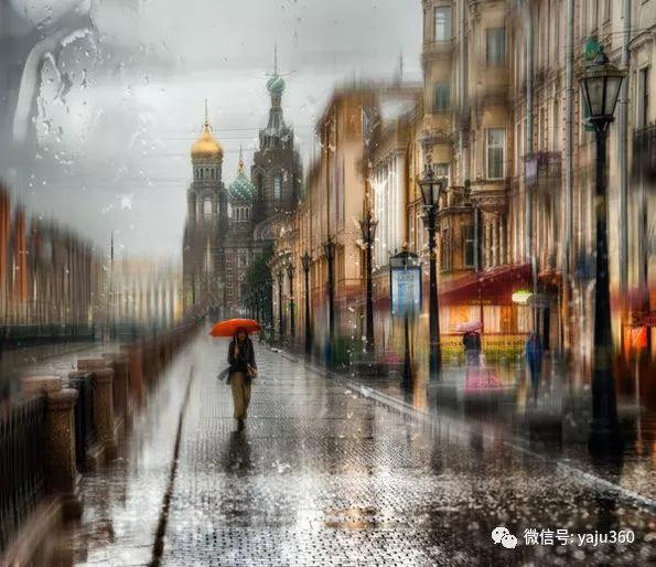 雨中街景2 俄罗斯Eduard Gordeev插图11