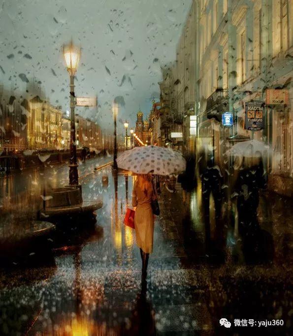 雨中街景2 俄罗斯Eduard Gordeev插图17
