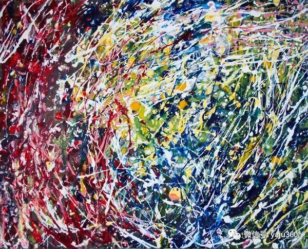 抽象油画作品欣赏 美Abigail Markov插图1