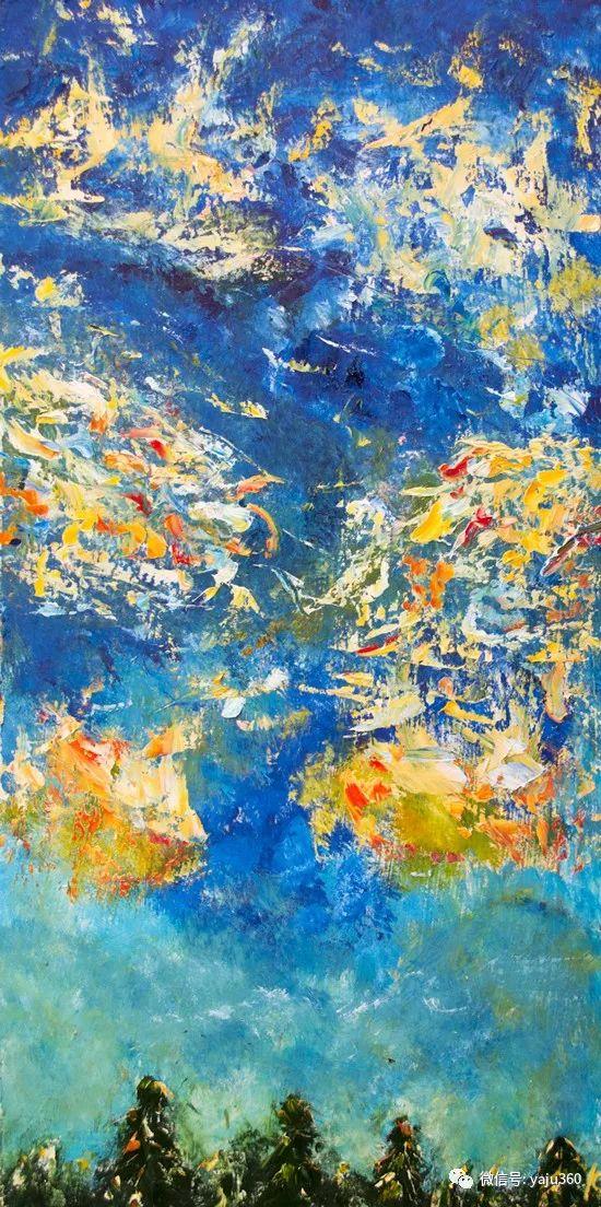 抽象油画作品欣赏 美Abigail Markov插图23