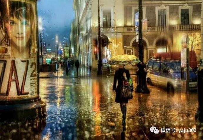 雨中街景 俄罗斯Eduard Gordeev插图1