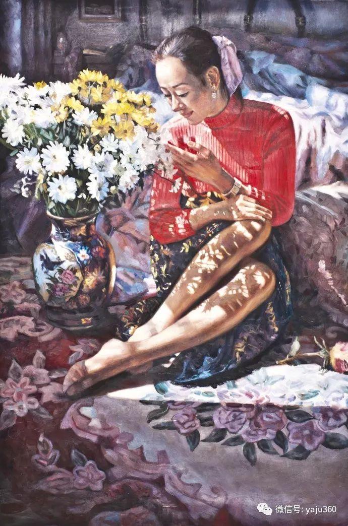 油画世界:刘湘东人物油画作品插图9