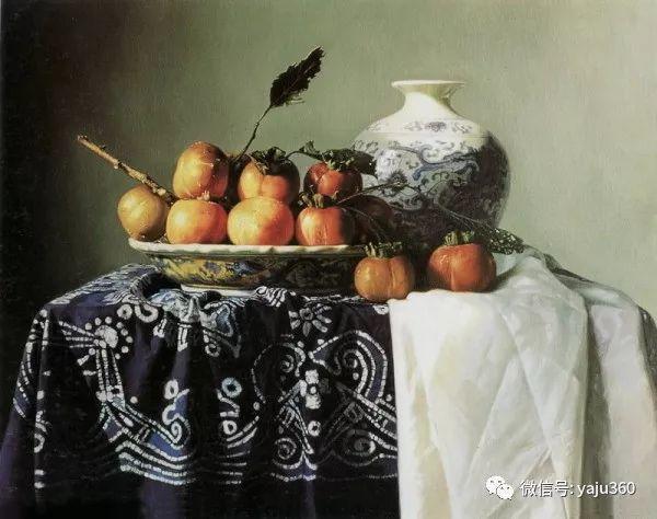 油画世界:蓝花布和青花瓷插图5
