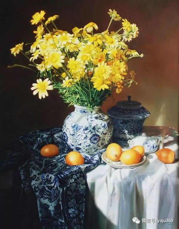 油画世界:蓝花布和青花瓷插图7