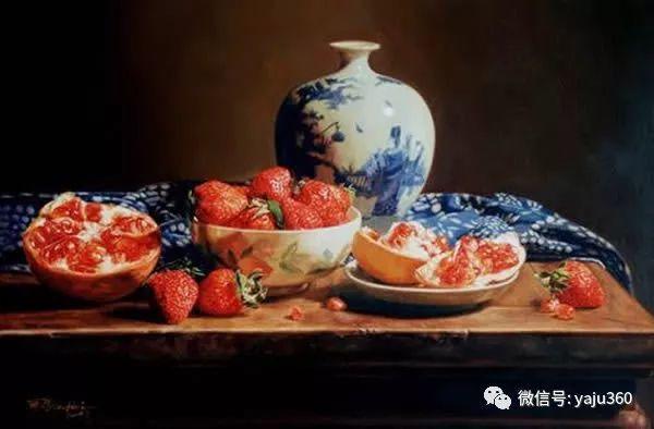 油画世界:蓝花布和青花瓷插图9
