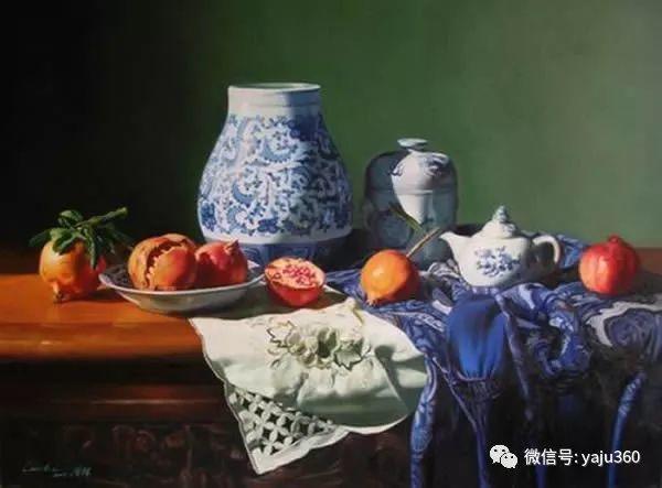 油画世界:蓝花布和青花瓷插图11
