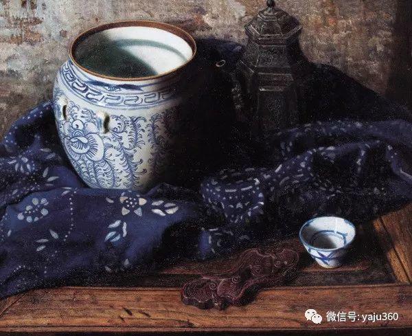 油画世界:蓝花布和青花瓷插图13