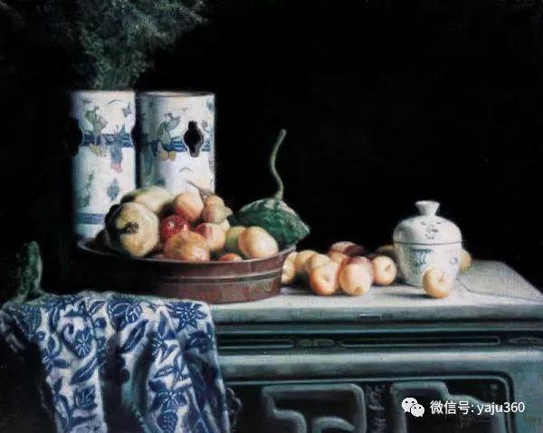 油画世界:蓝花布和青花瓷插图19