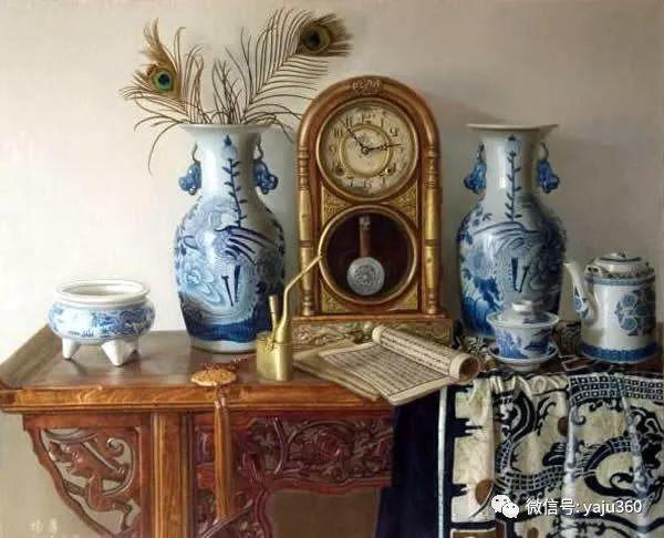 油画世界:蓝花布和青花瓷插图23