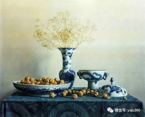 油画世界:蓝花布和青花瓷插图29