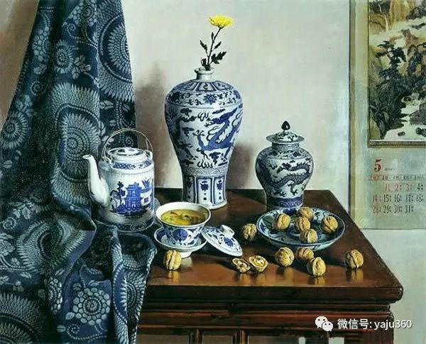 油画世界:蓝花布和青花瓷插图31