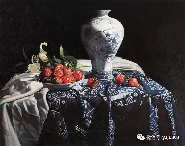 油画世界:蓝花布和青花瓷插图35