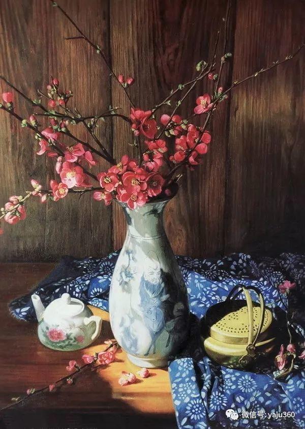 油画世界:蓝花布和青花瓷插图37