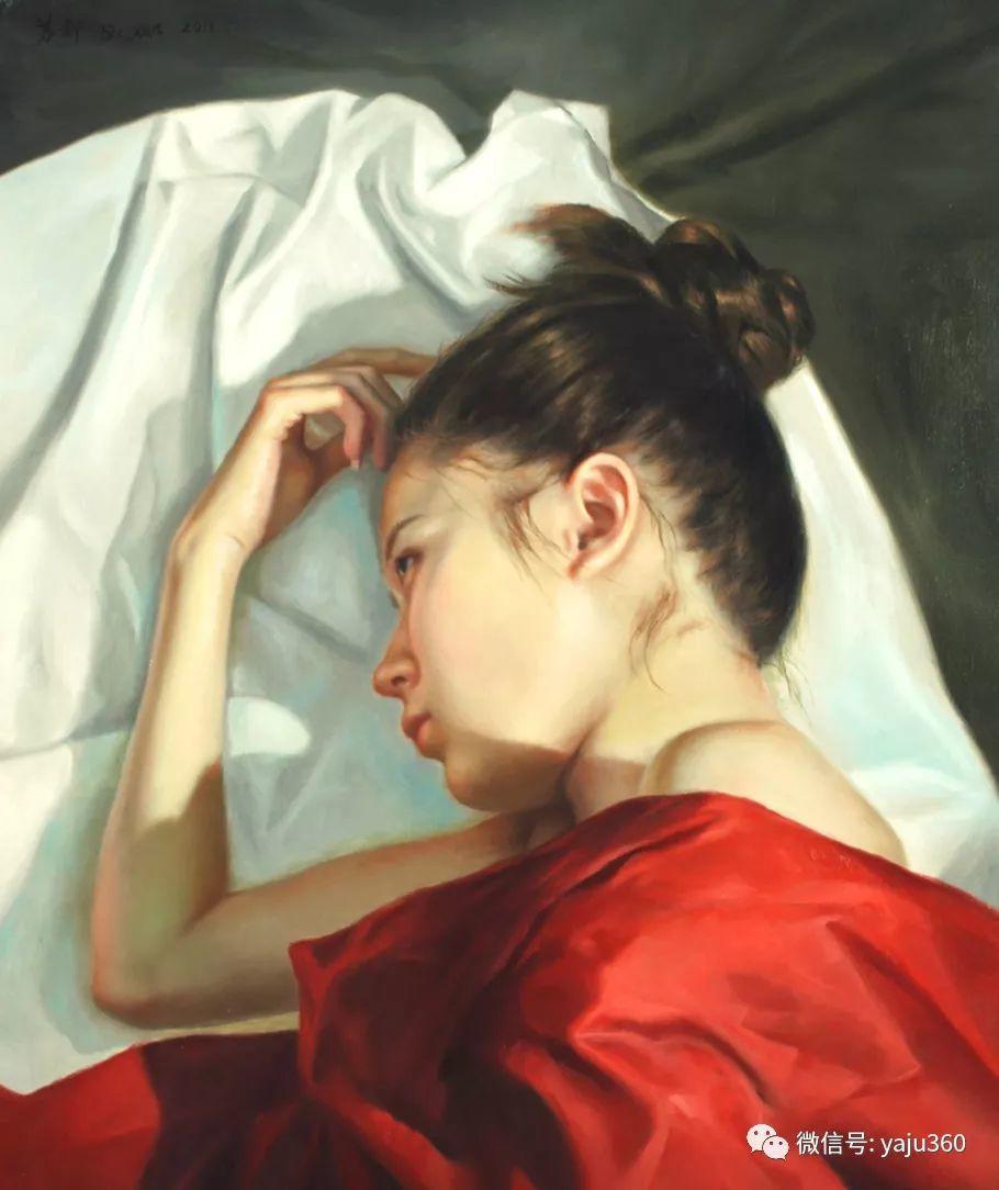 油画世界:苏新油画人物插图29
