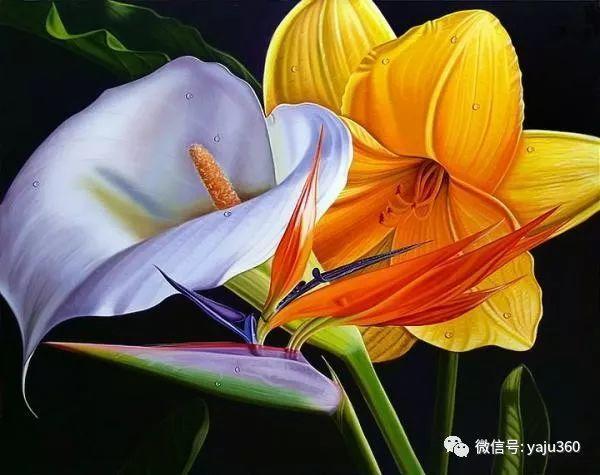 超写实的花卉和水果绘画作品插图3