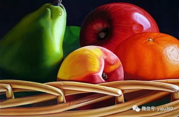 超写实的花卉和水果绘画作品插图7