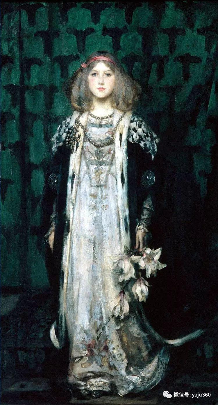 美国画家詹姆斯·杰布莎·香农人物油画欣赏一插图11