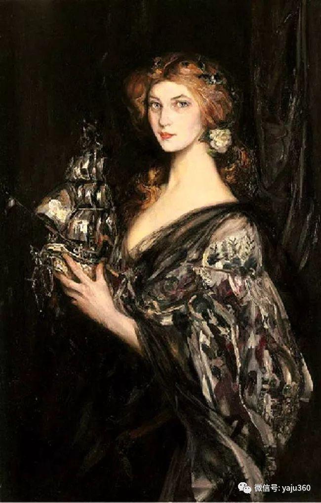 美国画家詹姆斯·杰布莎·香农人物油画欣赏一插图19