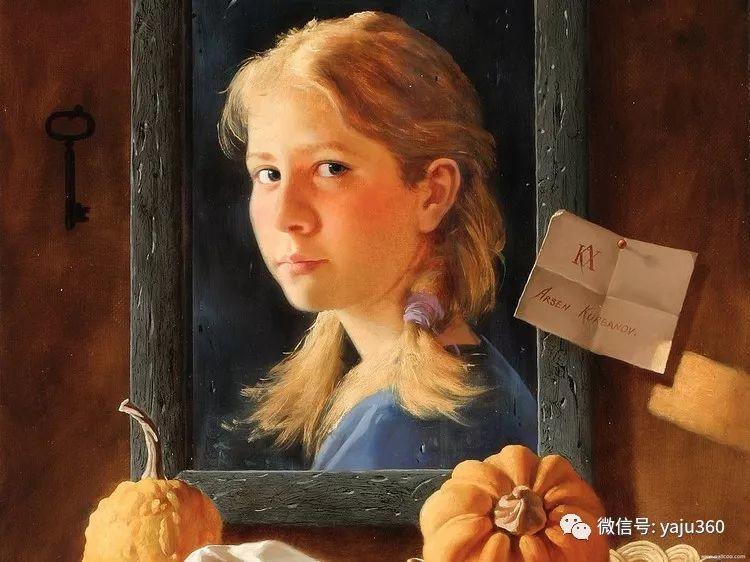 俄罗斯阿森·卡巴诺夫人物油画作品三插图4