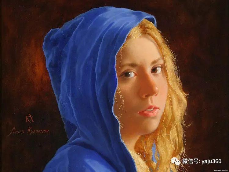 俄罗斯阿森·卡巴诺夫人物油画作品三插图11
