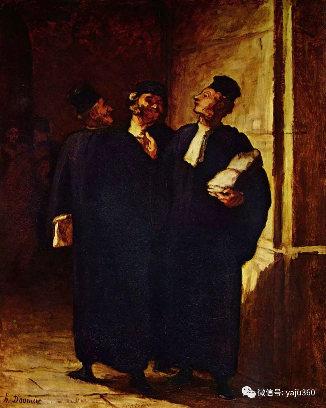 油画世界:法国Honoré Daumier油画作品插图7