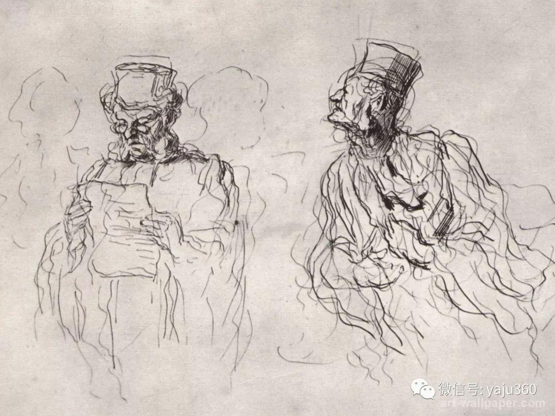 油画世界:法国Honoré Daumier油画作品插图27
