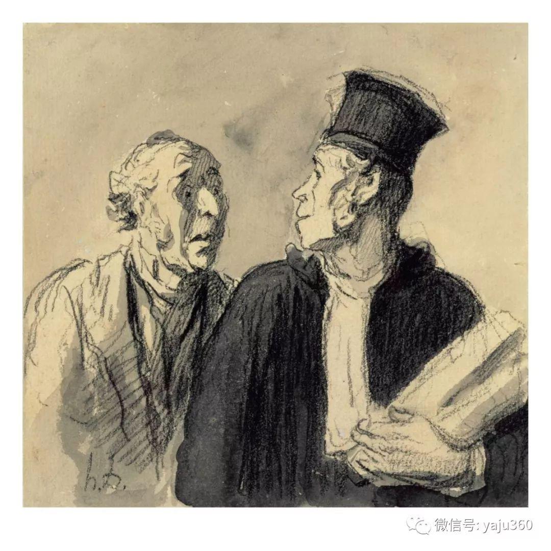 油画世界:法国Honoré Daumier油画作品插图39