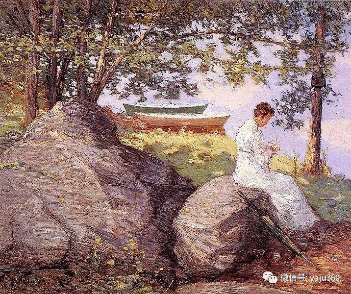 油画世界:美国印象派画家朱利安·奥尔登·威尔油画作品插图1