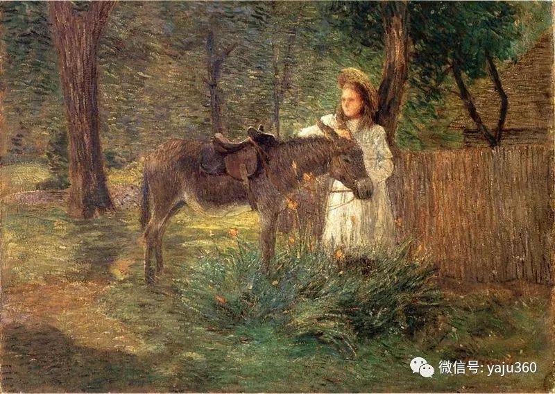 油画世界:美国印象派画家朱利安·奥尔登·威尔油画作品插图3