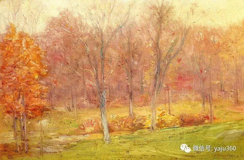 油画世界:美国印象派画家朱利安·奥尔登·威尔油画作品插图4