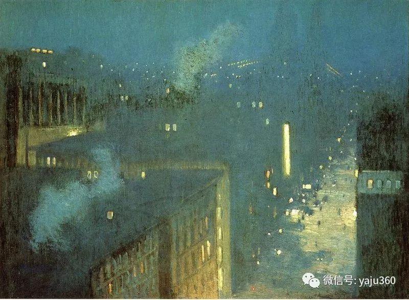 油画世界:美国印象派画家朱利安·奥尔登·威尔油画作品插图6
