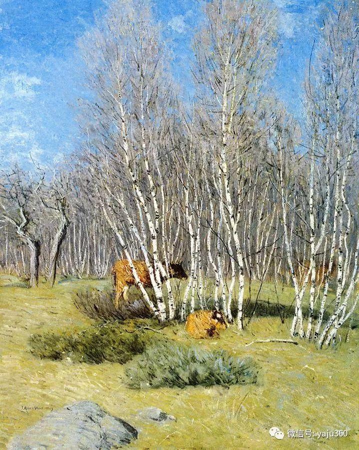 油画世界:美国印象派画家朱利安·奥尔登·威尔油画作品插图8